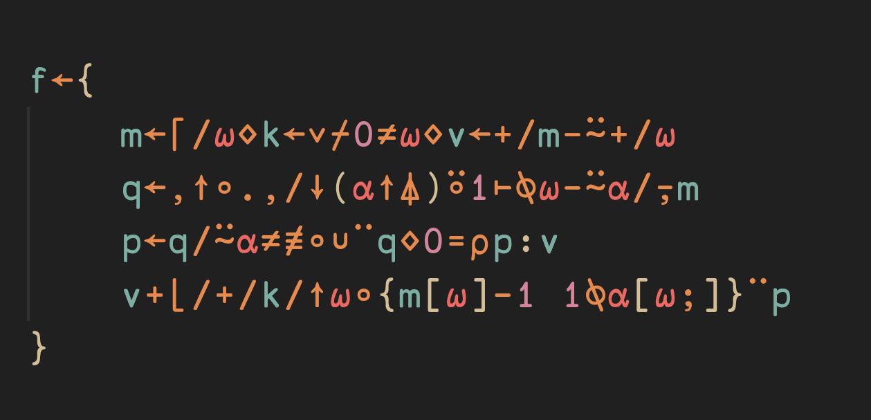 Matrix Rearrangements - solving a problem with APL.